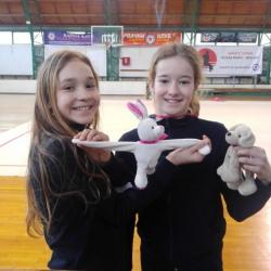 Bianca Gajšak i Maša Lepur 1st young talents cup BG 2018