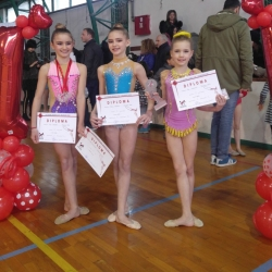 Mia Gvozden, Karla Stričak i Ana Jurković, 1st Young talents cup, BG 2018